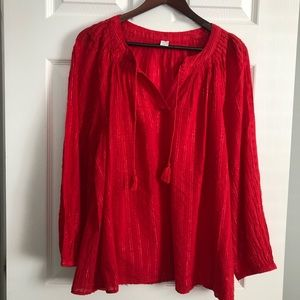 Old Navy Red Large Ladies Tunic NWT ❣️